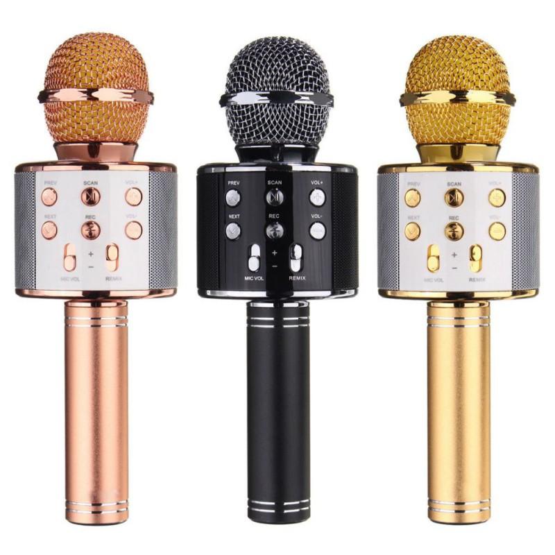 Wireless Handheld Mike KTV Karaoke Stereo USB Player Bluetoo